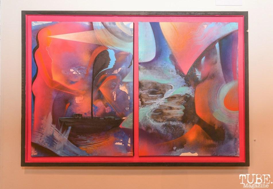 The work of Shaun Burner, The Showcase, 1810 Gallery, Sacramento, CA , October 20, 2018, Photo by Daniel Tyree