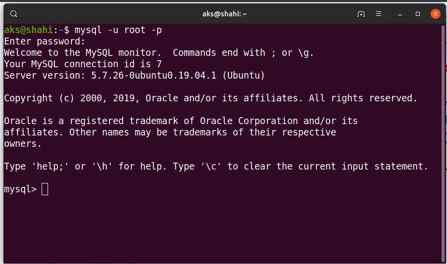 isntall mysql server on ubuntu