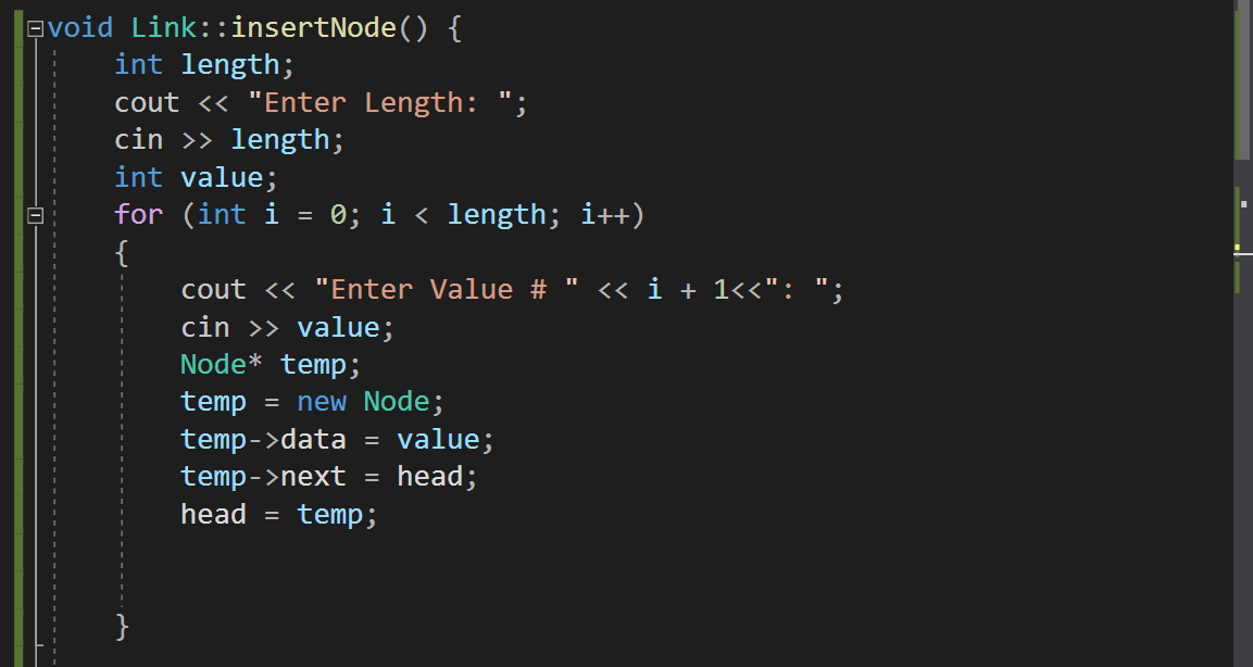 singly linked list c++