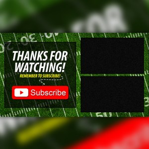 End Card Graphic Football
