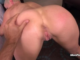 Busty Pixie Slut takes huge Facial on MomPov