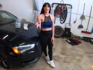 Roadside - Fit Girl Gets Her Pussy Banged By The Car Mechanic