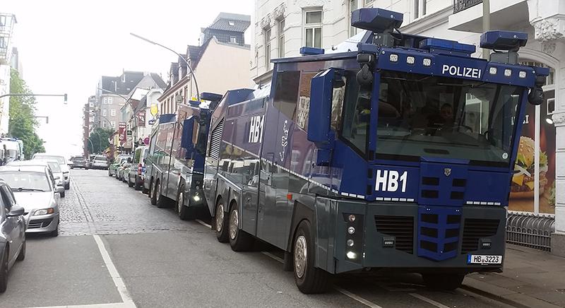 Panzerwagen der Polizei