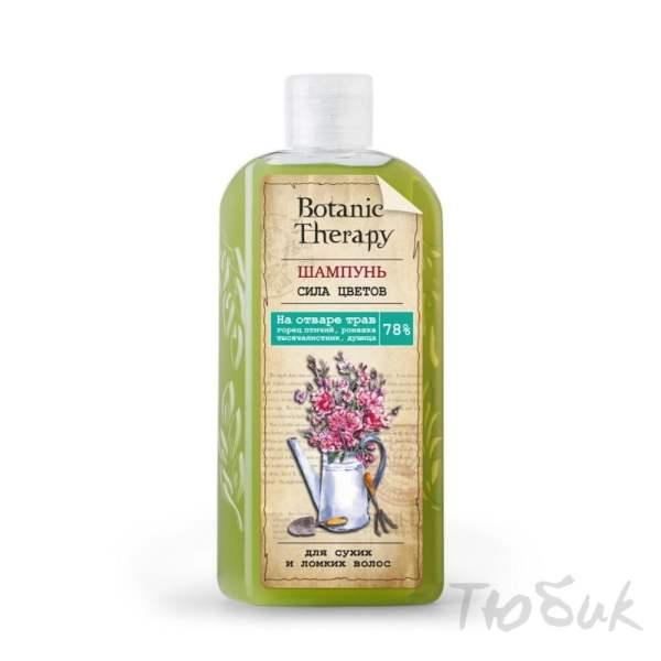 Шампунь Сила цветов для сухих и ломких волос, BOTANIC THERAPY, Модум