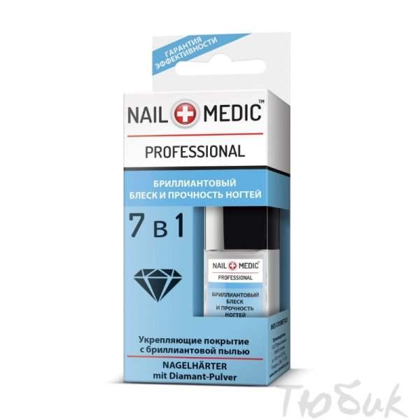 Бриллиантовый блеск и прочность ногтей 7 в 1 Nail Medic