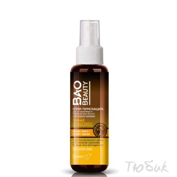 Спрей-термозащита для ослабленных и поврежденных волос с пептидами баобаба BAOBEAUTY Белита-М