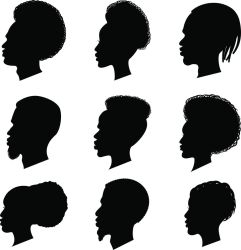 african american woman vector silhouette clip ethnicity illustrations couple illustration reflection loving graphics own ethnic similar