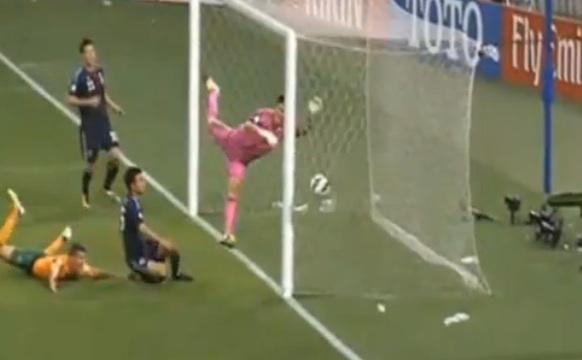 サッカー日本代表オーストラリア戦失点シーン