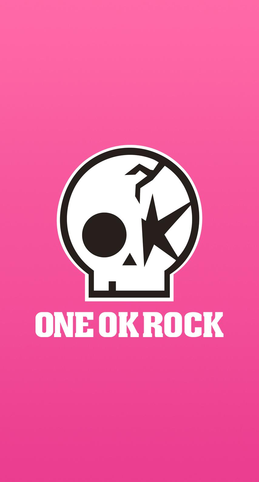 1d Iphone Wallpaper One Ok Rock ワンオクロゴ&ピンク めちゃ人気 Iphone壁紙dj