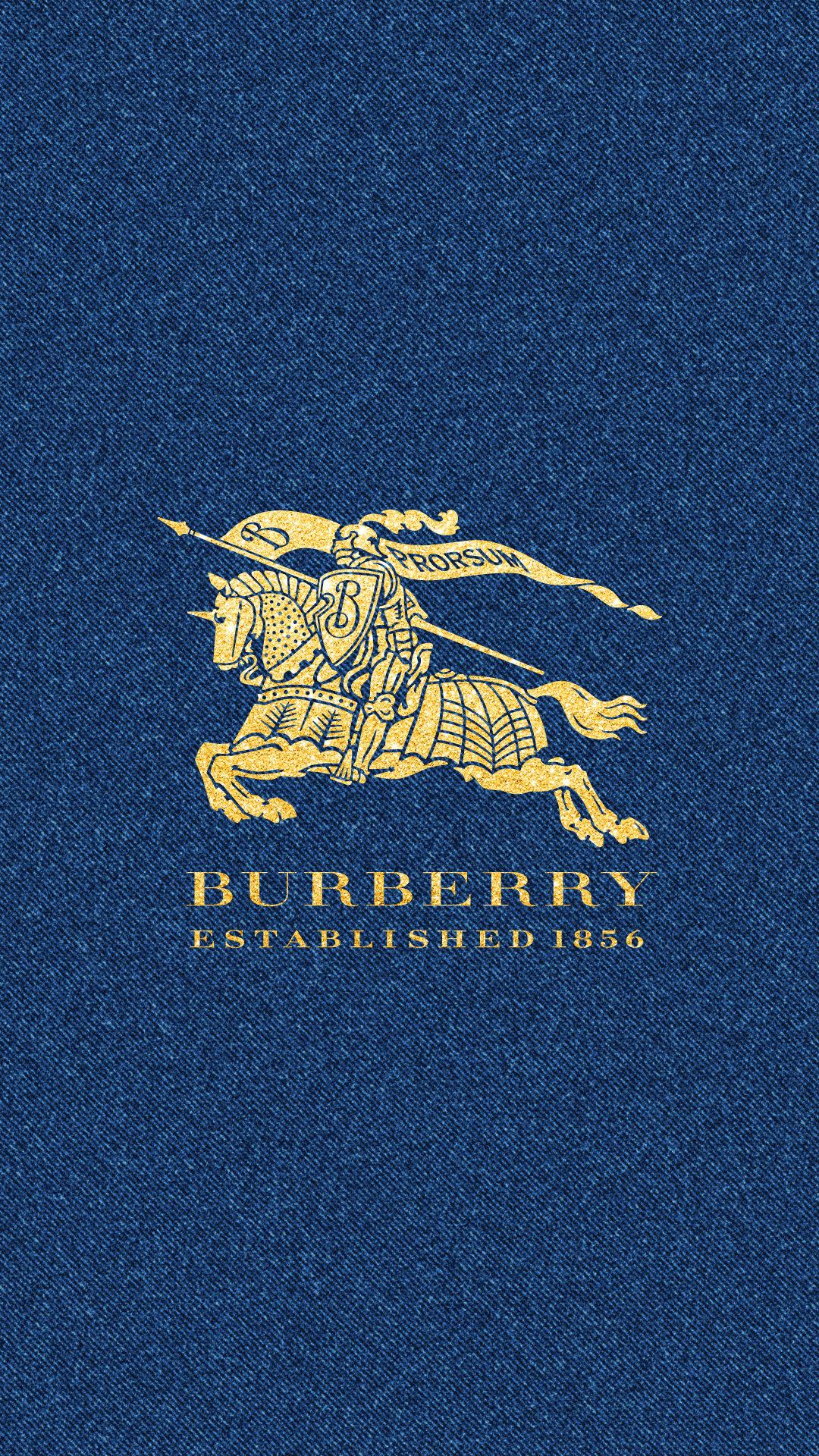 Burberry Iphone Wallpaper バーバリー ゴールドロゴ&デニム めちゃ人気 Iphone壁紙dj