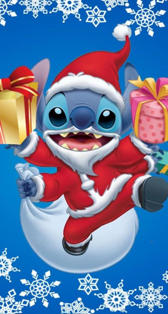 Hd Christmas Wallpaper Cute リロ・アンド・スティッチのクリスマス めちゃ人気 Iphone壁紙dj