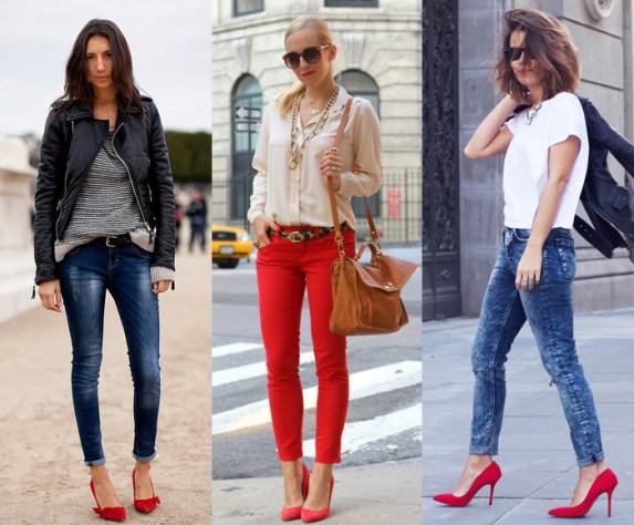 Finalizando com a velha e boa calça jeans! O look da direita está ___