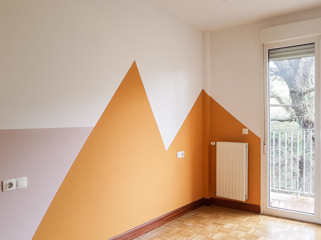 Como pintar una habitacin infantil con formas geomtricas