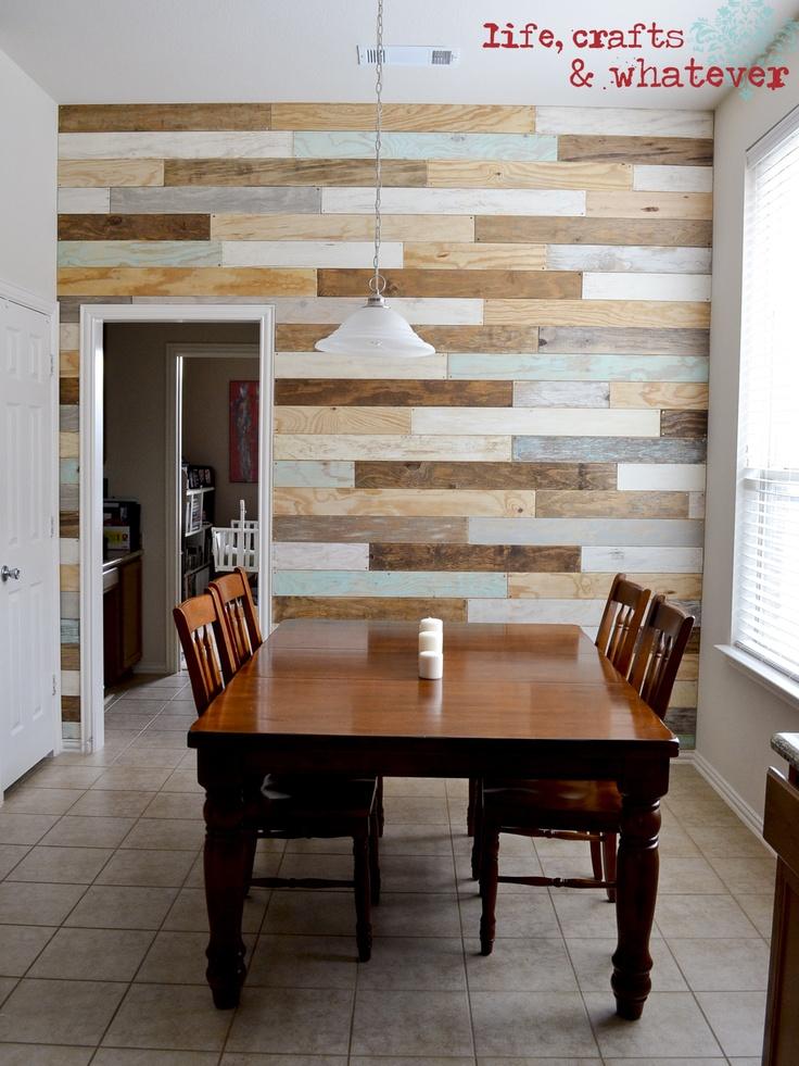 10 ideas para decorar las paredes tu casa con madera  Tu