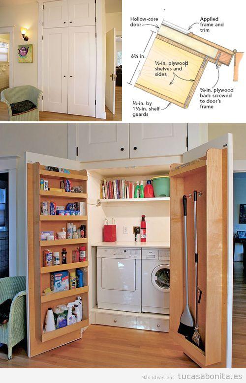 10 ideas para organizar y decorar cuartos de la colada