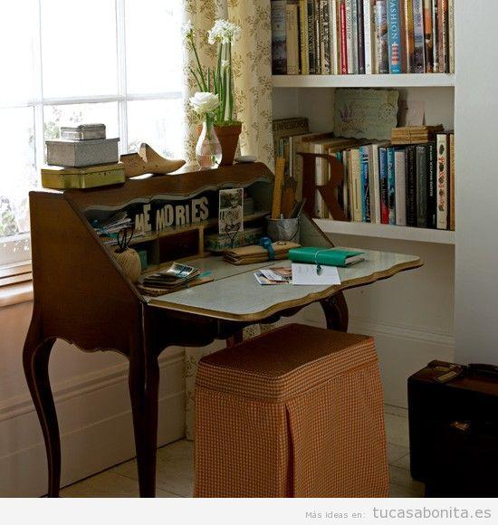 Oficinas y despachos en casa decorados estilo retro y