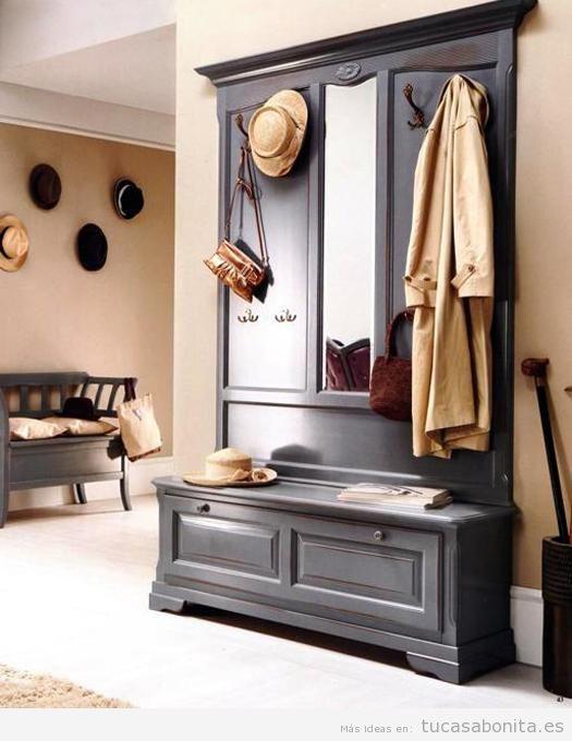 Ideas para decorar un recibidor estilo vintage y que sea