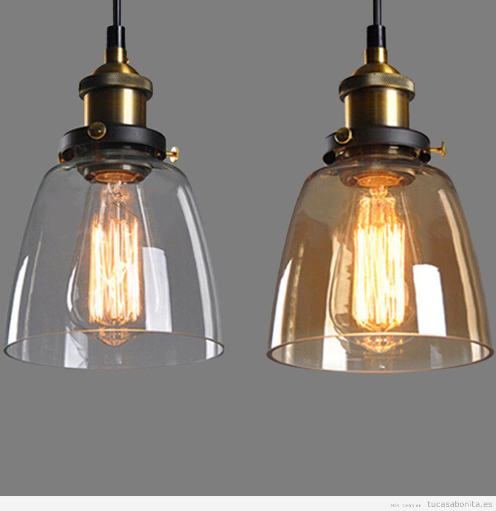 5 lmparas de estilo vintage e industrial por menos de 50  Tu casa Bonita