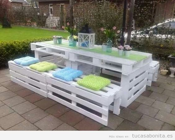 Muebles jardineras y casetas DIY hechas con palets para