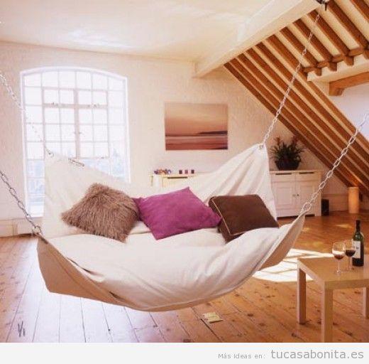 Hamacas para interior y exterior de casa sala de estar habitaciones despacho y balcn  Tu casa Bonita  Trucos e ideas de decoracin de