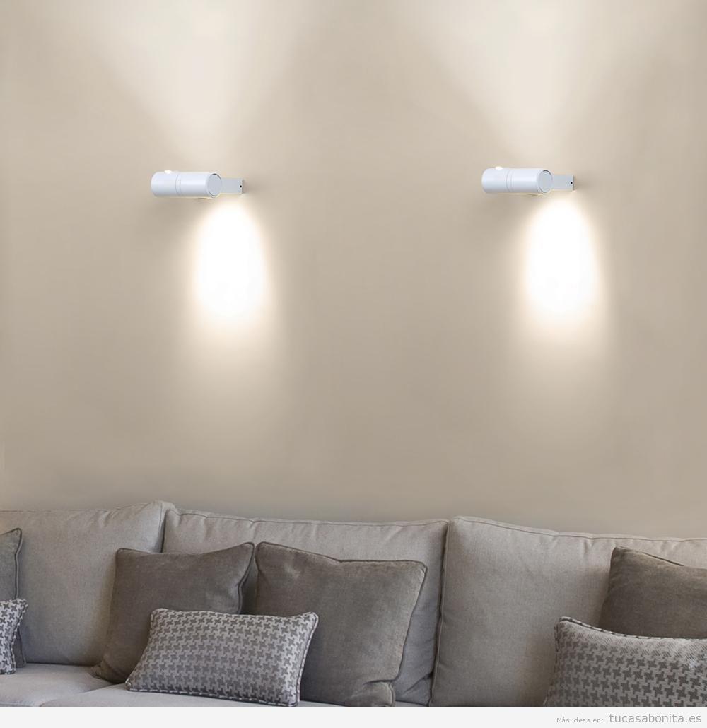 Apliques de pared ahorra espacio y gana en iluminacin