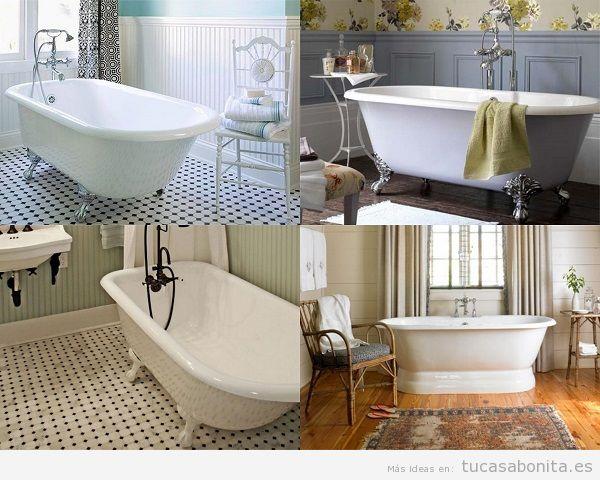 Baos vintage baldosas hidrulicos azulejos ladrillo baeras antiguas y ms elementos  Tu casa Bonita