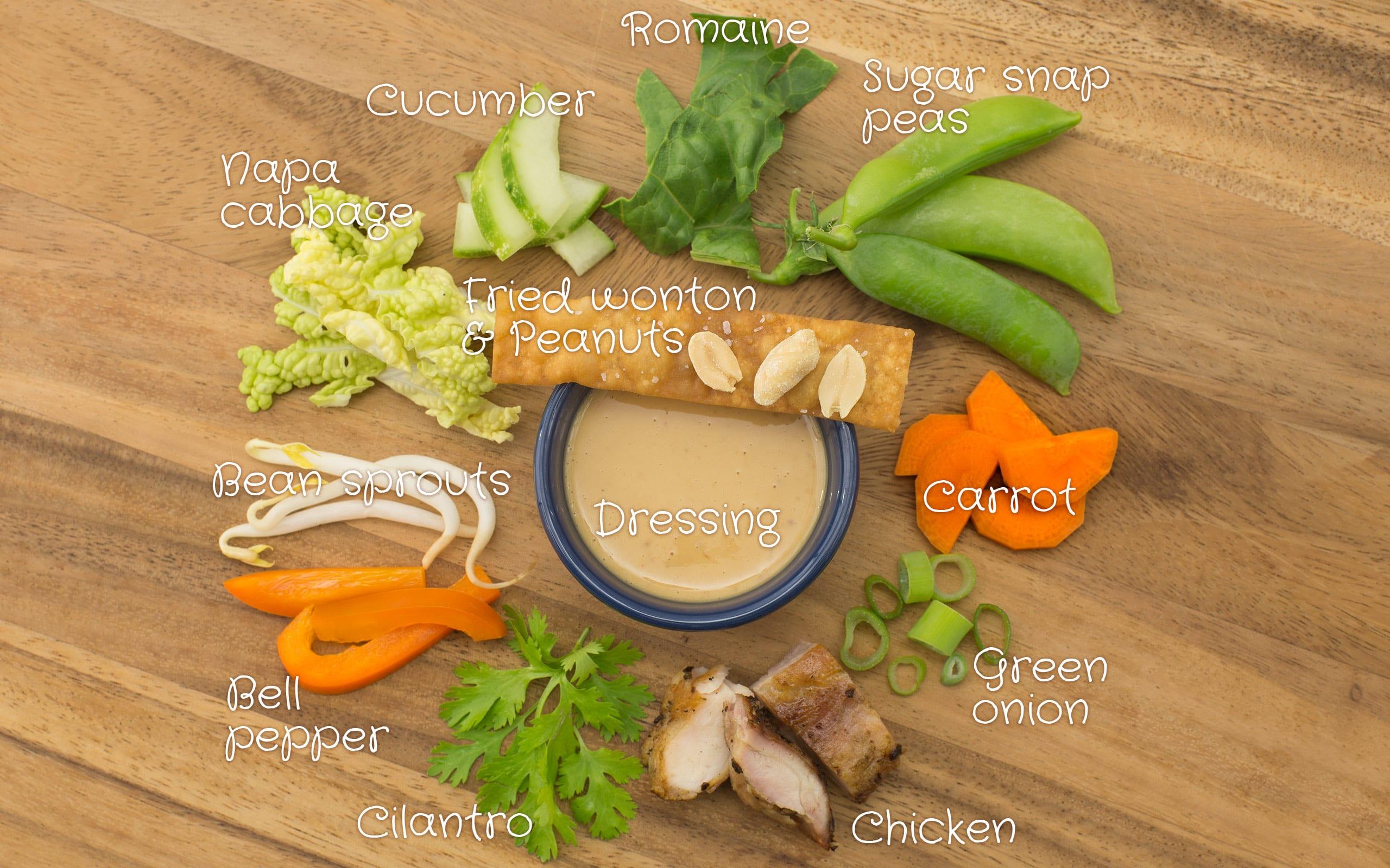 52 Weeks Of Mason Jar Salads Chinese Chicken Ingredient