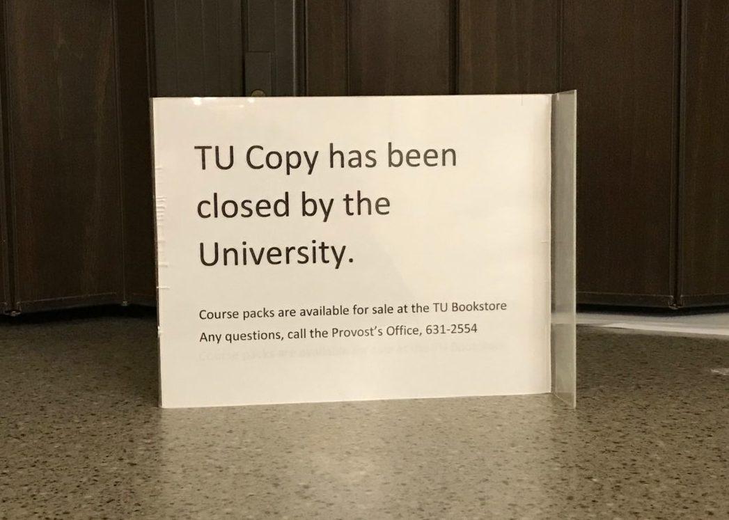 tu copy closed by