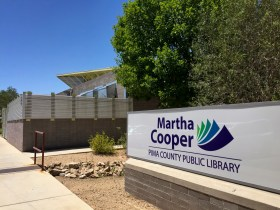 The Martha Cooper library sign