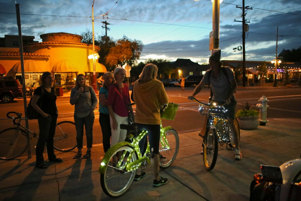 Cyclists ride through the more biker-friendly Tucson streets. As biker numbers have increased, advocates said the city needs to do more to accommodate them.