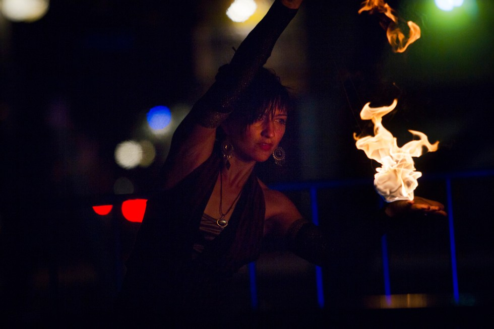 Zoë Rae, shown performing at the Sky Bar in Tucson, is an owner of Cirque Roots, a Tucson-based troupe that does not work with animals.
