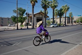 Tucsonans enjoyed the cooler weather by riding bikes during Memorial Day weekend.