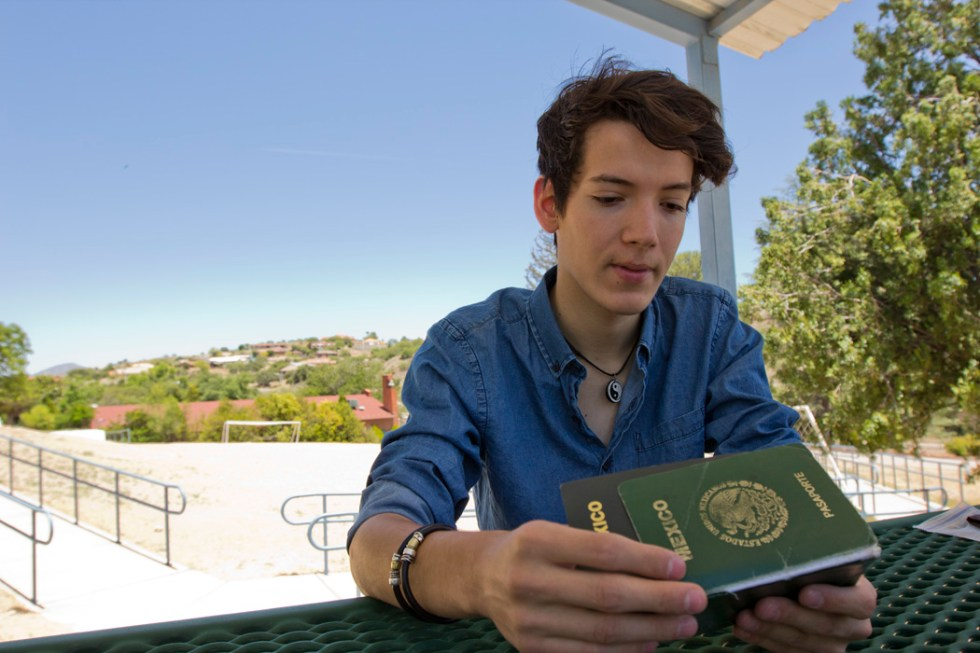 Jesús Alejandro Espinosa, 18, was one of 8,931 students who live in Mexico and attend schools, conservatories, seminars or colleges in the United States with F-1 student visas.
