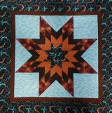 One of her more traditional quilts