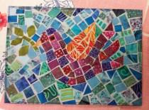 A mosaic Bird! So cool