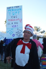 Protesting cuts to education