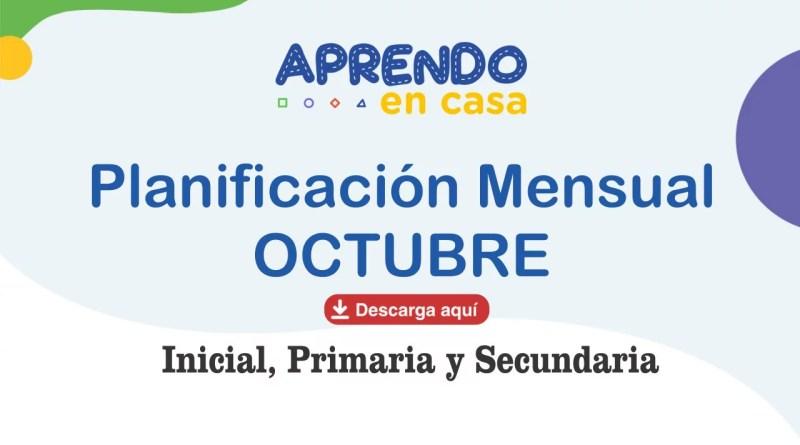 programación mensual octubre inicial primaria y secundaria