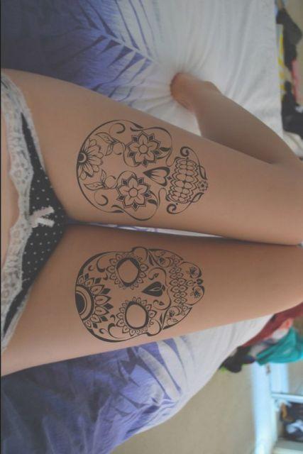 Catrina Mexicana Tattoo Na Perna