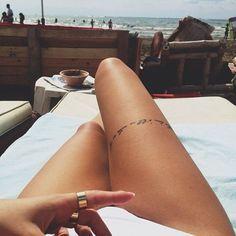 Tatuagens Femininas Na Coxa Frases