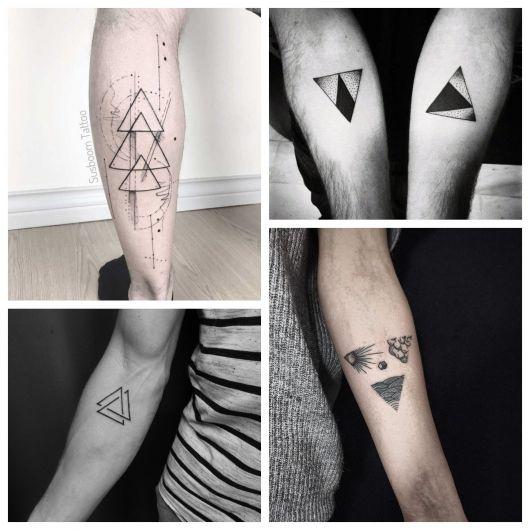 Tatuagem De Triângulo Significado 80 Ideias Para Todos Os Gostos
