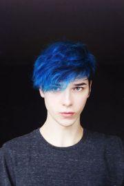 cabelo azul masculino 30 inspiraes