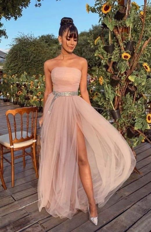 Vestidos de Madrinha 2022 - Modelo com tule