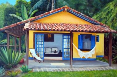 praia simples casas casa uma tipos pequena cores bem perfeitamente clima caiu remete ao