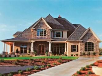 casas americanas fachadas casa fachada grande uma