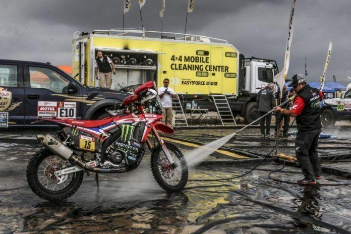 Equipe Honda se prepara para o final do Rally Dakar 2019