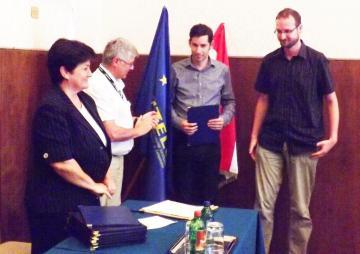 A Juhari Zsuzsanna díj nyertesei, Szávoszt-Vass Dániel és Jakab László