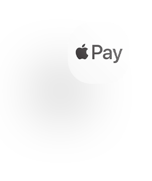 Apple pay app icon logo and shadow