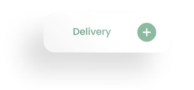 Delivery and button icon with shadow