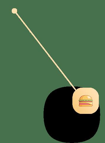 Food Icon pointing to Analytics of App Platform