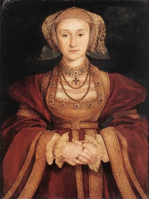 Ana de Cleves, por Hans Holbein, o jovem. Datado de 1539.